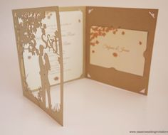 Laser cut wedding invites