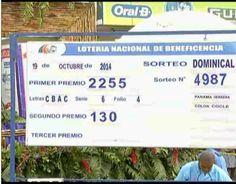 Panamá: Lotería nacional de Beneficencia celebro el sorteo Lotería Nacional Nº4987 del domingo 19 de Octubre 2014. Resultados Lotería de Panamá domingo19-10-14 -Premio Mayor-2255-CBAC-6 y 4