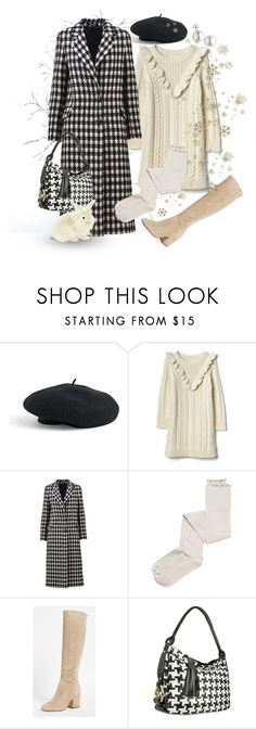 """""""Houndstooth Pattern - First Snow"""" by giovanina-001 ❤ liked on Polyvore featuring Venus, Tagliatore, Intimately Free People, Sam Edelman and Fontanelli"""