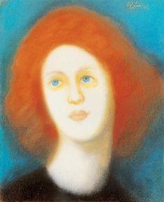 Rippl Red-haired Parisian Girl - Category:Pastels by József Rippl-Rónai - Wikimedia Commons Marlene Dumas, Budapest, Theodore Robinson, Parisian Girl, Half The Sky, Henri Rousseau, Pierre Bonnard, Portraits, Post Impressionism