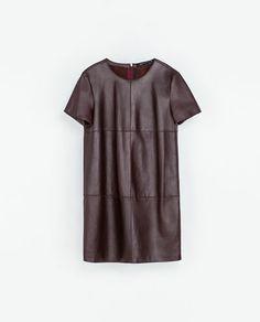 LEATHER DRESS - Dresses - WOMAN | ZARA Greece