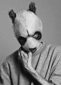 Christoph Köstlin - Cro // black-white portrait // blackwhite closeup // masked