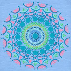 Large Archival Print of Pink Lining Mandala on 8 x 10 Archival Paper - Geometric Modern Abstract Art - Reproduction of Hand Painted Mandala. $20.00, via Etsy.