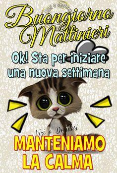 Buona Settimana immagine #3116 - Buongiorno Mattinieri. Ok! Sta per iniziare una nuova settimana. Manteniamo La Calma. Immagine per Facebook, WhatsApp, Twitter e Pinterest.