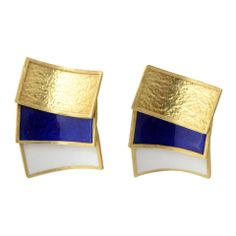 d6a7683d17b8 CARTIER Gold and Enamel Earrings