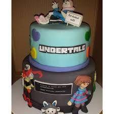 Resultado de imagen de undertale birthday cake