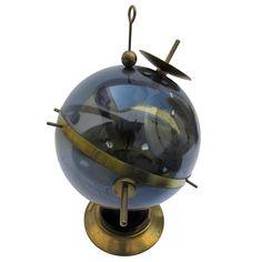 Midcentury Sputnik Weather Station Barometer