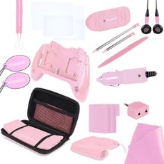 cool Nintendo 3DS 20 in 1 Essentials - Pink  Includes: 1 Play It Loud, 1 Audio Splitter, 2 Small Precision Styluses, 1 Carrying Case, 1 Large Precision Styluses, 1 USB SD Card Reader, 1 Carry All... http://gameclone.com.au/accessories/cases-protectors/nintendo-3ds-20-in-1-essentials-pink/