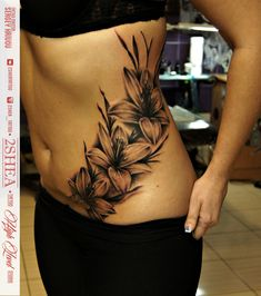 back tattoos for women Lower Stomach Tattoos For Women, Sexy Stomach Tattoos, Arm Sleeve Tattoos For Women, Cover Up Tattoos For Women, Shoulder Tattoos For Women, Back Tattoo Women, Lower Back Tattoos, Flower Side Tattoos Women, Scarification Tattoo