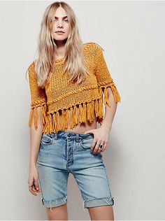 Free People On The Fringe Pullover, $108.00
