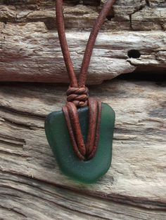Sea glass jewelry Green Sea Glass Necklace by byNaturesDesign, $14.00