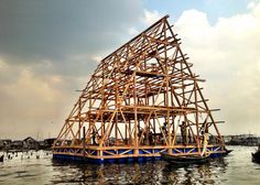 A floating school on a Nigerian lagoon by architecture studio NLÉ