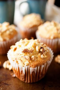 These over-sized Banana Walnut Muffins are bursting with flavor and are perfect for breakfast or brunch. No worries if you don't have jumbo muffin tins! You can make regular-sized muffins as well. Cake Mix Muffins, Jumbo Muffins, Banana Nut Muffins, Banana Bread, Yummy Treats, Sweet Treats, Yummy Food, Pumpkin Cinnamon Rolls, Dessert Recipes