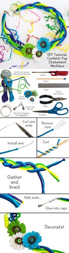DIY Tutorial Confetti Pop Statement Necklace