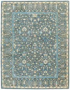 Capel - Capel Smyrna-Persian Cedars 3157 Blue Area Rug #169047