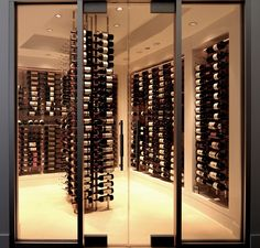 Glass Wine Cellar very modern and clean