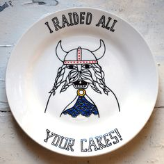 LOL  season your food with humor :) viking era dishes | Funny dishes found on etsy.... Could just be that random gift you have ...