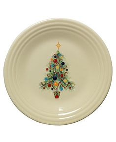 Fiesta Dinnerware, Christmas Tree Lunch Plate - Casual Dinnerware - Dining & Entertaining