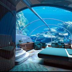 An underwater hotel room in Fiji...can you imagine?!