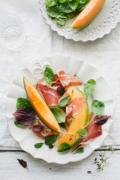 Prosciutto and melon - almost too pretty to eat!