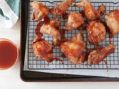 Twice-Fried Chicken with Sriracha Honey : Recipes : Cooking Channel Sriracha Recipes, Honey Recipes, Yummy Recipes, Game Recipes, Simple Recipes, Spicy Recipes, Fried Chicken Recipes, Chicken Thigh Recipes, Baked Chicken