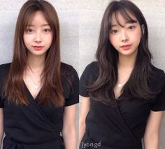• 3) Hair만으로도 다른사람이~? 헤어스타일 전/후 : 네이버 블로그 Korean Long Hair, Trendy Hairstyles, Hair Makeup, Make Up, Long Hair Styles, Hair Cuts, Hair, Maquillaje, Trendy Haircuts