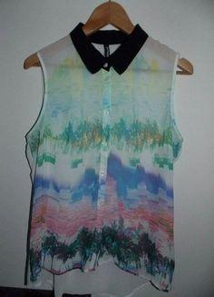 Kup mój przedmiot na #vintedpl http://www.vinted.pl/damska-odziez/koszule/15311111-kolorowa-koszula-z-kolnierzykiem-takko-fashion