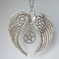 SUPERNATURAL LARGE Guardian Angel Wings Pendant