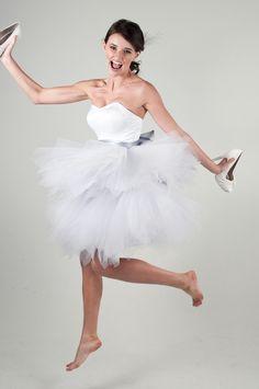 Elisa - Short Wedding Dress - Reception Dress. $448.00, via Etsy.