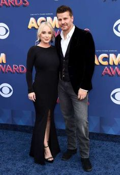 Jaime Bergman and David Boreanaz arrive at the 53rd Annual Academy of Country Music Awards at the MG... - Jordan Strauss/Invision/AP/REX/Shutterstock