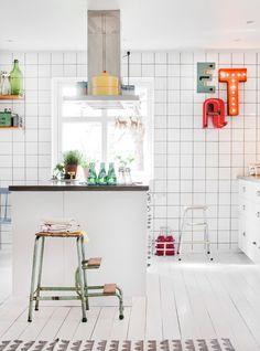 Köksinspiration: helkaklade väggar sätter den industriella stilen - Sköna hem