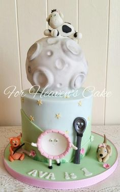 The Cow Jumped Over the Moon - Cake by Bobbie-Anne Wright (For Heaven's Cake)