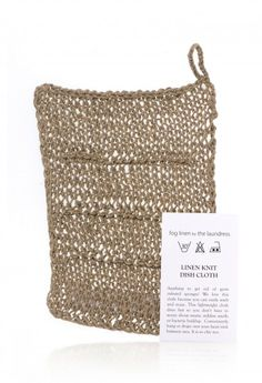 Linen Knit Dish Cloth Sold at Montecito Store