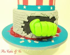Super Hero Cake by Ros Cakes & Co.