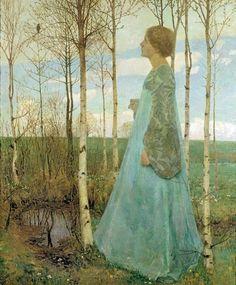 fleurdulys:    Spring - Heinrich Vogeler  1896