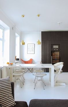 Dining Area, Kitchen Dining, Dining Room, Dining Table, Office Desk, Furniture, Color, Home Decor, Desk Office