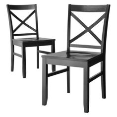 Carey Dining Chair - Ebony - Set of 2 : Target $119. Or white table with black chairs for nook?
