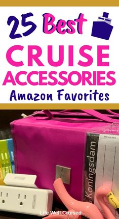 Are you creating an Amazon shopping list of cruise accessories and essential items you'll need for your cruise? This list has 25 of the most popular and recommended things to pack for your cruise vacation. From helpful cruise packing hacks to cabin organization gadgets - to beach and pool accessories that will help your cruise to be even better! A must read and save! #cruisepacking #cruiselist #cruiseaccessories #cruiseusthaves #cruiseitems #amazoncruisepackinglist #travelitemscruise