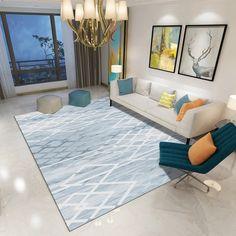 Living Room Carpet, Living Room Bedroom, Modern Prints, Modern Rugs, Hall Flooring, Patterned Carpet, Striped Rug, Bedroom Office, Geometric Rug