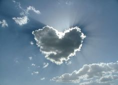 A heart-shaped cloud, spotted by Angelo Storari of Ancona, Italy.  TED Talks - The joy of cloudspotting: 10 incredible visions in clouds