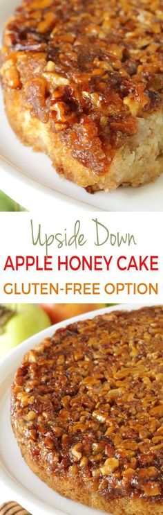 Upside Down Apple Honey Cake (dairy-free, gluten-free and 100% whole grain options)