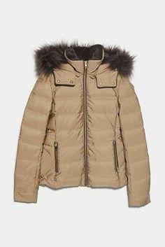 EX River Island Camo Print Jacket Detachable Fake Fur Collar Size 6-12 RRP £70