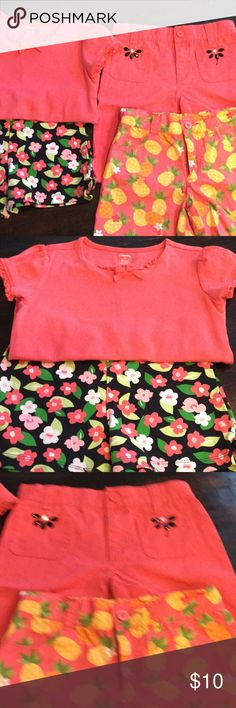 Gymboree Matching Short Set & 2 Shorts Gymboree Matching Short Set, Top is Size 9 and Shorts is Size 8 (elastic waistband), other shorts have adjustable waist and zippers, Sizes 8 & 9, great condition, see pictures Gymboree Matching Sets