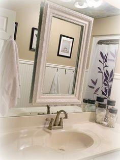 master bath...frame on mirror