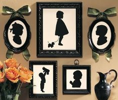 Silhouettes...LOVE these from our trips to Disneyland, but now I can do it myself!