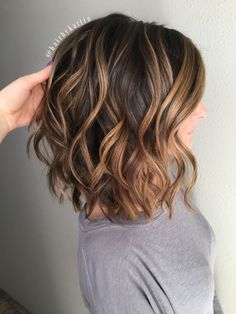 balayage brunette caramel highlights honey balayeombre by echkbet