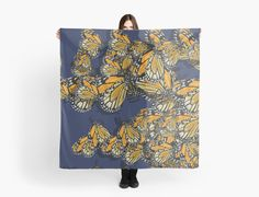 Butterfly Scarf! Spring fashion designer top clothing by @anoellejay @redbubble • Also buy this artwork on apparel, stickers, phone cases, and more.