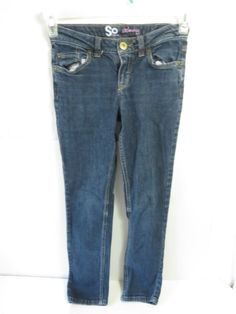 So Skinny Denim Jeans Size 12 Blue Denim Straight Leg #SoSkinny #SlimSkinny #Everyday