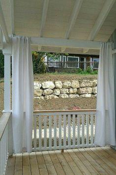 Windschutz, Terasse Outdoor Structures, Architecture, House Styles, Garden, Home, Building A Porch, Porch Ideas, Arquitetura, Garten