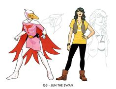 Cliff Chiang´s  designs for Gatchaman aka Battle of the Planets